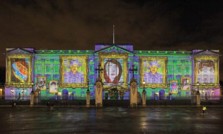 Record-breaking artwork projected onto London landmark
