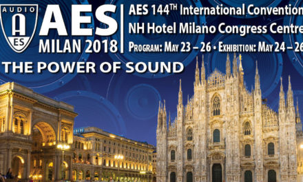 AES Milan Convention Recording and Production Events program announced