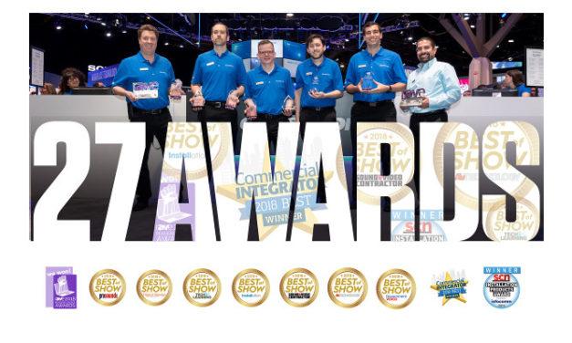 Crestron wins 27 Industry Awards at InfoComm
