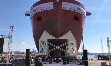 tube uk helps launch  RRS Sir David Attenborough