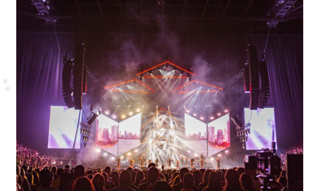 Maluma F.A.M.E. tour ignites two continents under Meyer Sound LEO Family Power