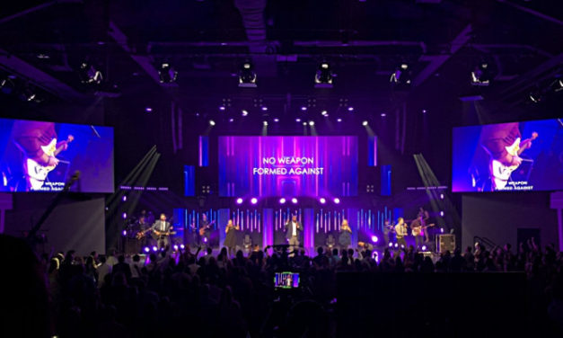 Crown Design Group and Elation light up Action Church