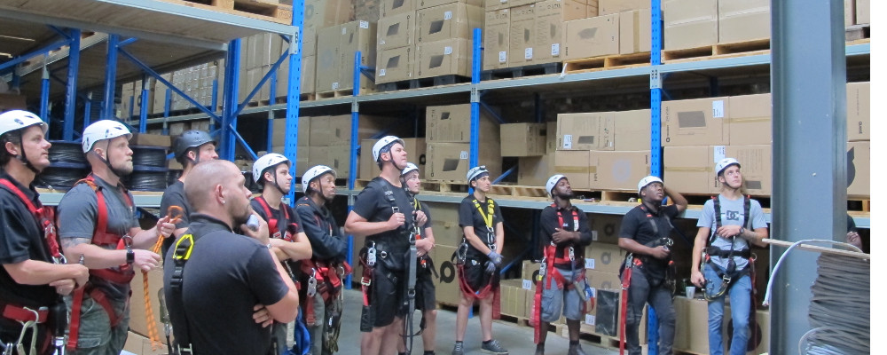 GRAVITY GROUP DOES RIGGING TRAINING AT DWR