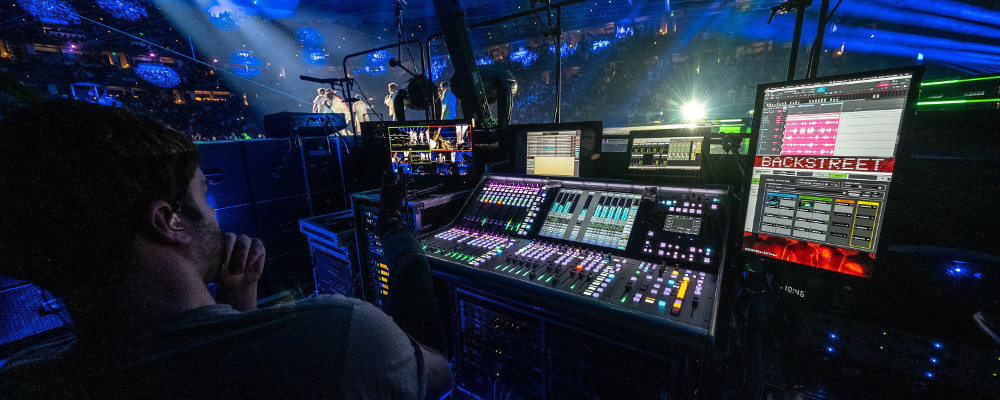 SSL IS LARGER THAN LIFE ON BACKSTREET BOYS DNA WORLD TOUR