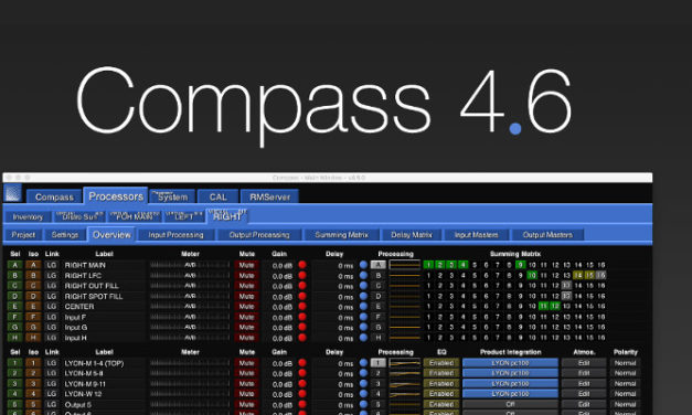 MEYER SOUND RELEASES COMPASS 4.6 SOFTWARE
