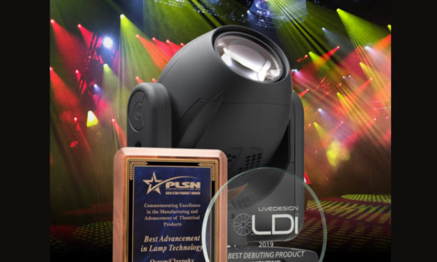 THE CLAYPAKY XTYLOS WINS TWO AWARDS AT LDI 2019