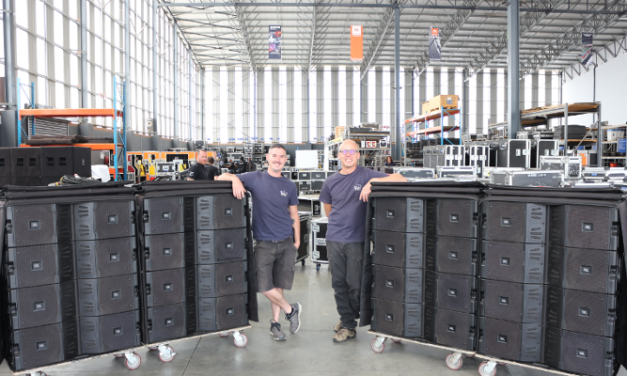 JBL PROFESSIONAL VTX20 LINE ARRAY LOUDSPEAKERS ARE PROVEN PERFORMERS FOR RENTAL HOUSE MGG
